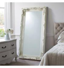 Classic, baroque inspired full length mirror ornate design antique white frame