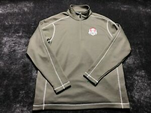 Nike Dri-Fit 2012 Ryder Cup Men's Brown 1/4 Zip Up Soccer Running Jacket Size XL