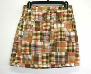 Ann Taylor Loft Petites Women's Size 0P Fitted Plaid Dress Casual Pencil Skirt