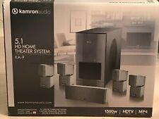 Brand New Kamron Audio Ka-14 1500 Watt 5.1 Hd Home Theater System Hdtv Cd Dvd/Br