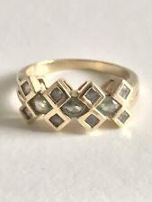 A Beautiful 9ct Gold Peridot & Gemstone Ring