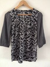 VILA Polyester Smooth Top Blouse Size XS Black & White <R12876