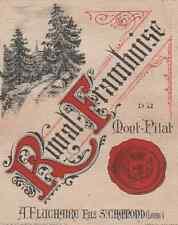 """""""ROYAL-FRAMBOISE du MONT-PILAT / A.FLUCHAIRE"""" Etiquette-chromo originale fin1800"""