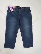 Outback -  Ladies Comfort Waist Blue Capri - 3/4 Leg Stretch Jeans - Size Aus 16