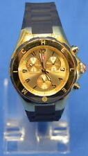 Michele JL243846 Tahitian Stainless Steel Chronograph Wrist Watch Gold Tone Blue
