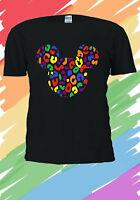 Disney Mickey Mouse Rainbow Colourful Cute Gift Men Women Unisex T-shirt V203
