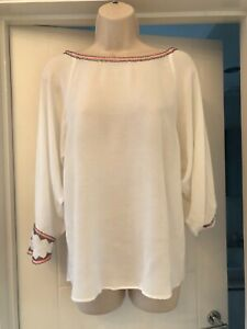Zara Women's White Top Size M