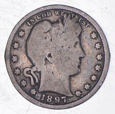 Better 1897 - US Barber 90% Silver Quarter Coin Collection Set Break *191
