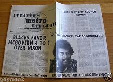 Berkeley Metro Reporter 1972 Black Underground Newspaper Marijuana Ron Delums