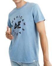 American Eagle Mens Light Blue Round Graphic Tee T-Shirt Sz Medium M 3475-4