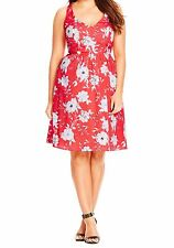 City Chic XL 22 US Dress Sketch Floral Lolly