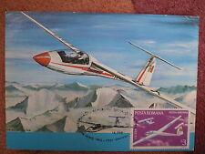 AVIATION 42 airplane 1977 Glider aircraft  private maxicard ROMANIA MAXIMUM CARD