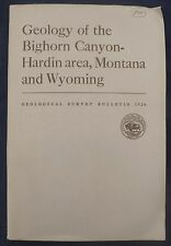 Usgs Bighorn Canyon, Montana, Hardin Large Report with All 8 Maps! Vintage 1955.