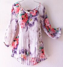 NEW~Lavender Rose Juliet Pleat Ruffle Peasant Blouse Shirt Top~4/6/2/S/Small
