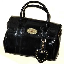Mulberry for Target satchel in black patent Handbag Bayswater