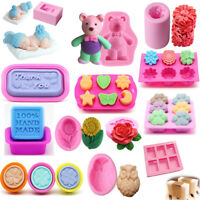 New Silicone Chocolate Candy Cookie Soap Cake Decor DIY Baking Mold Mould Tool