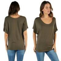 Batwing Top Khaki BETTY BASICS Maui Tee T Shirt Plus Sizes 10 12 14 16 18 20 22