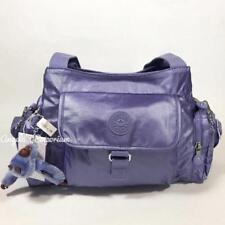 KIPLING FAIRFAX FELIX LARGE Handbag Shoulder CrossBody Bag Metallic Mist Purple