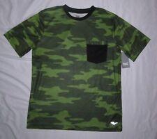 NWT Boys EVERLAST Camoflauge Camo Green & Black Silky T-Shirt  - size L (14-16)