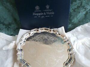 Mappin & Webb silver plate tray 365 mm diameter