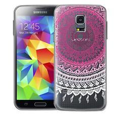 Protective Case Samsung Galaxy S5 Mini Silicone Phone Mandala Cover