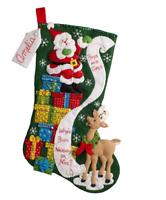 Bucilla - 'The List' -  Christmas Felt Stocking Applique Kit - 86712