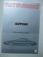 Mitsubishi Sapporo brochure Prospekt Dutch text 16 pages 1981