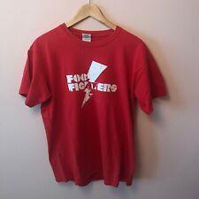 FOO FIGHTERS Red T Shirt Size M Medium Vintage Mens Vtg Rare Tour Rock Band Logo
