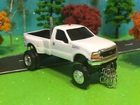 FORD, F350, ERTL, 1/64 Custom LIFTED FORD F350 DUALLY Farm Toy Truck Ertl DCP