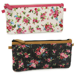 Pencil Cases for Girls Woman's Flat School Pencil Case Black White Pink