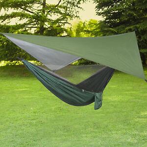 Tent Waterproof Lightweight Polyester Fly Hammock Tarp Cover Waterproof Outdoor