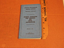 L&N  Louisville Nashville General Questions & Answers Diesel Locomotives manual