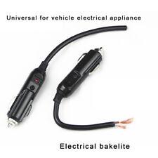 12V Male Car Cigarette Lighter Socket Plug Connector W Fuse Red LED