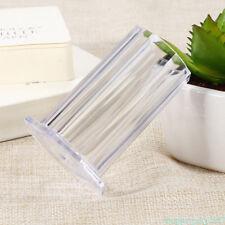 Clear Makeup Nail Art Brush Pen Pencil Holder Portable Transparent Cup Bottle T4