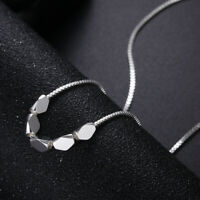 Pretty 925 Silver wedding party cute Necklace Jewelry charm women love gift LN58