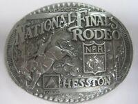 National Finals Rodeo Hesston 1998 NFR Adult Cowboy Buckle, Vintage, Orig. Pkg.