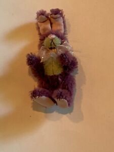 """DEB CANHAM CONVENTION 2008 """"ONEFUR BUNNY 5"""" PURPLE MOHAIR- FULLY JOINTED"""