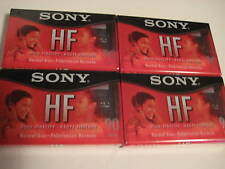 Lot of 4 Factory Wrapped SONY HF 90 minute Cassettes NEW 300