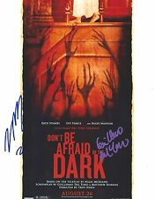 Guillermo Del Toro & Troy Nixey signed Don't Be Afraid 8x10 Photo - In Person