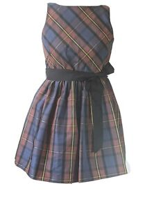 Polo Ralph Lauren Dress party Plaid Red Navy Green Button Front 12 Girls