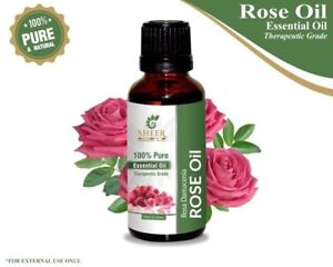 100% NATURAL PURE ROSE OIL (ROSA DAMASCENA) ESSENTIAL OIL AROMATHERAPY 5ML-500ML