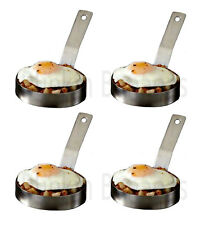 4 LARGE EGG RING PROFESSIONAL HEAVY DUTY CATERING CATERER FRIED FRYING PANCAKE 8