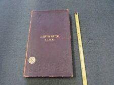 ca.1857(?) ILLINOIS CENTRAL RAILROAD, book of 34 railroad maps, pre- Civil War