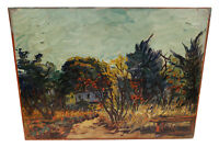 VINTAGE DUTCH FAUVIST LANDSCAPE OIL PAINTING THEO THEODOR FRANCISCUS GOEDVRIEND