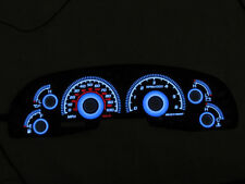USA 99-03 Ford F150 Expedition Glow Gauges Black Face Blue Glow Overlay 00 01 02