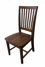 Red Mahogany Farmhouse Chair (Rustic solid wood kitchen Dinning Chiairs