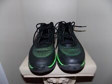 Men's Black & Green Under Armour Spine Bionic Low Houston 2013 Basketball Shoes