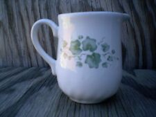Corelle Dishes Callaway White & Green Ivy Stoneware Swirl Lipped Creamer Cup