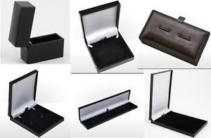 Jewellery Boxes Ring Earring Necklace Bracelet Cufflink Black Blue Grey
