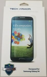 Tech Armor Ballistic Glass Screen Protector Samsung Galaxy S4 Lifetime Warranty